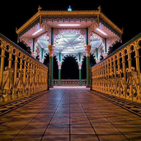 Brighton Bandstand at night