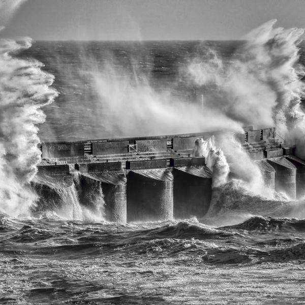 A bit Choppy at the Brighton Marina