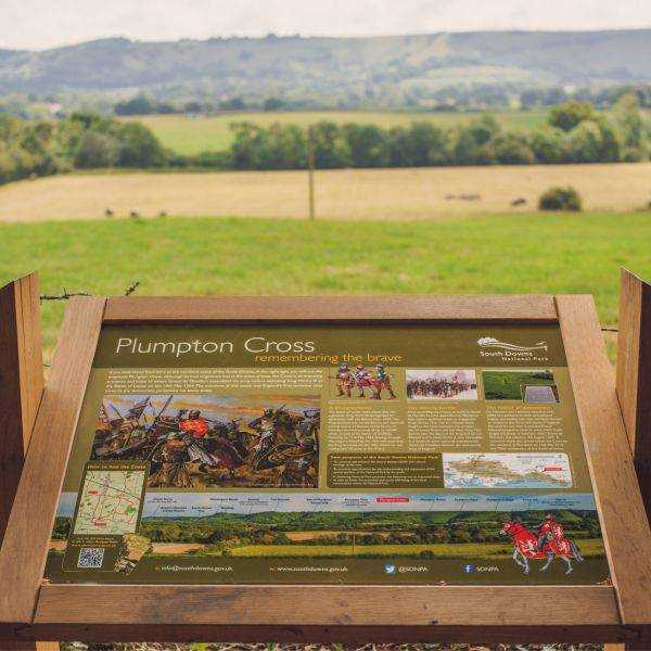 Plumpton cross information panel